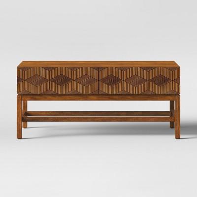 Tachuri Geometric Front Coffee Table Brown - Opalhouse™