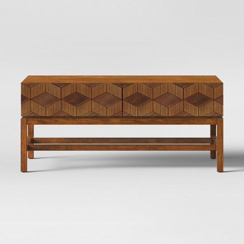 Miraculous Tachuri Geometric Front Coffee Table Brown Opalhouse Inzonedesignstudio Interior Chair Design Inzonedesignstudiocom