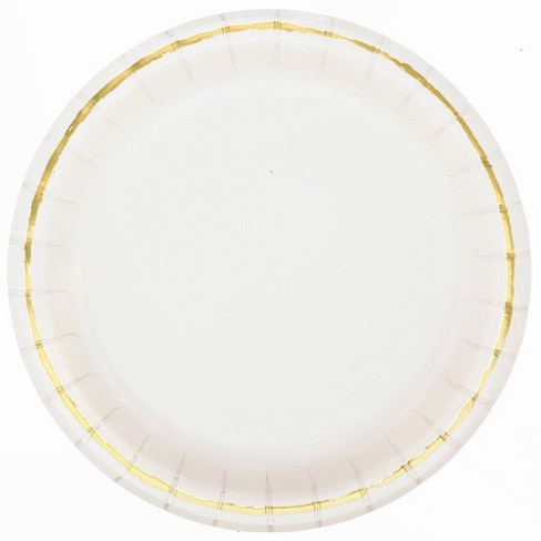 20ct Disposable Dinner Plates Off-White - Spritz™ - image 1 of 1
