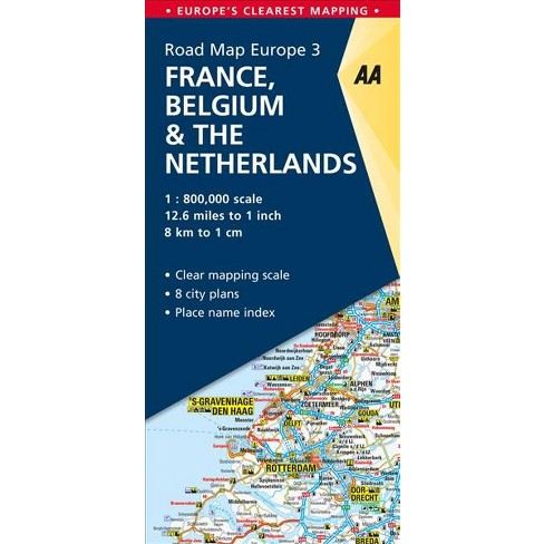 Aa Road Map France, Belgium & the Netherlands - (Aa Road Map Europe ...