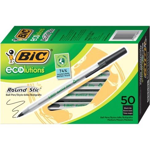 Bic Ecolutions Stick Pen, 1.0 mm Medium Tip, Translucent Barrel and Black Ink, pk of 50 - image 1 of 1