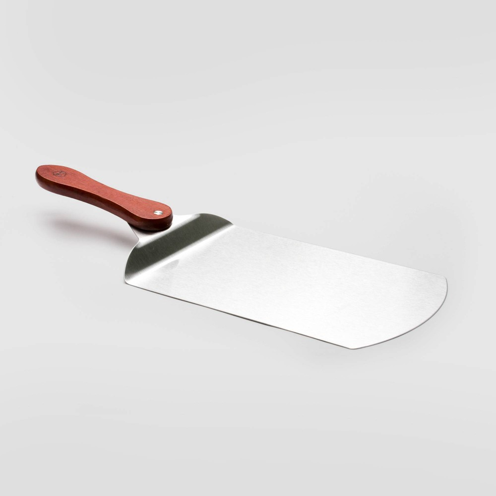 Image of Stainless Steel Rosewood Handle Pizza Peel Silver - Outset