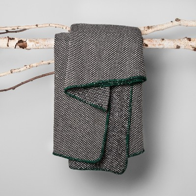 Woven Throw Blanket - Black - Hearth & Hand™ with Magnolia