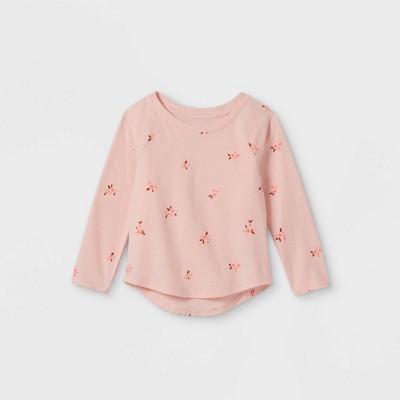 Toddler Girls' Floral Long Sleeve T-Shirt - Cat & Jack™ Powder Pink