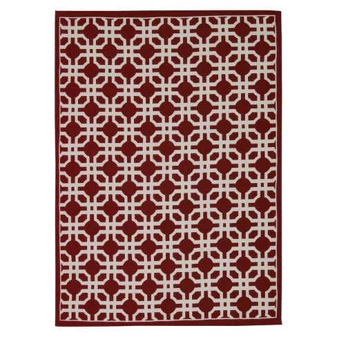 Geometric Flatweave Rug - Waverly - image 1 of 1
