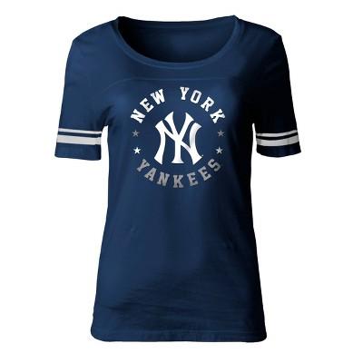 MLB New York Yankees Women's Poly Rayon Fashion T-Shirt