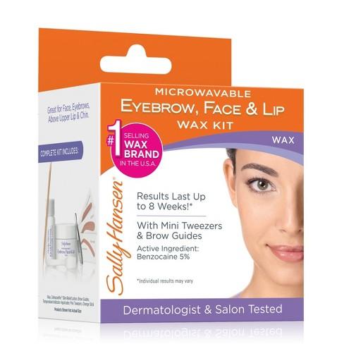 Sally Hansen Microwavable Eyebrow Face Lip Wax Kit