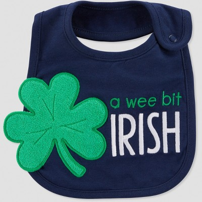 Baby St. Patricks A Wee Bit Bib - Just One You® made by carter's Navy One Size