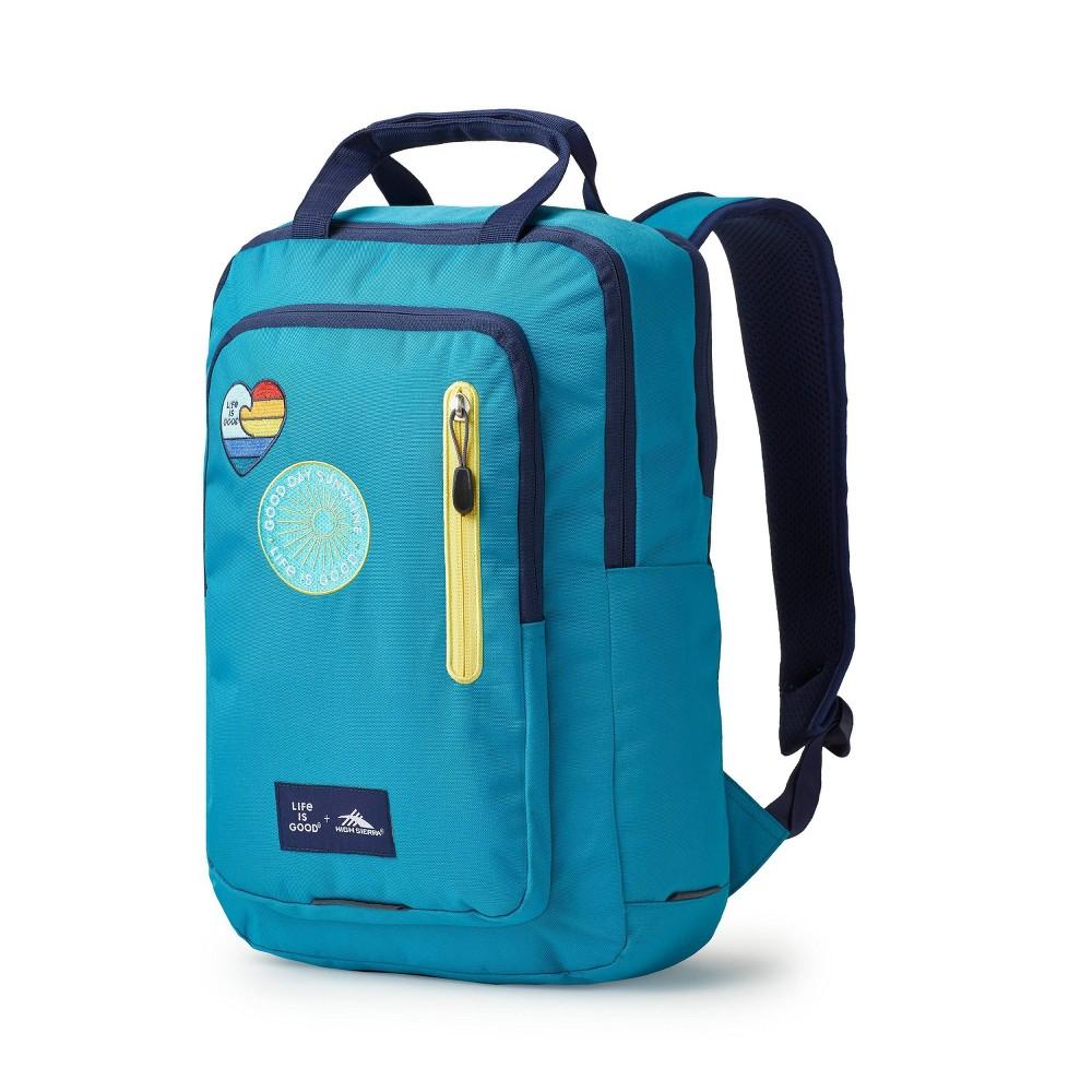 "Image of ""High Sierra Life Is Good 17"""" Mindie Backpack - Blue, Multicolored Blue"""