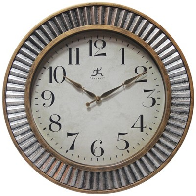 Infinity Instruments Round Wall Clock Gold