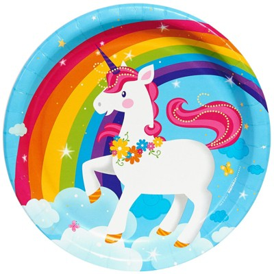 Fairytale Unicorn 8ct Party Dinner Plates