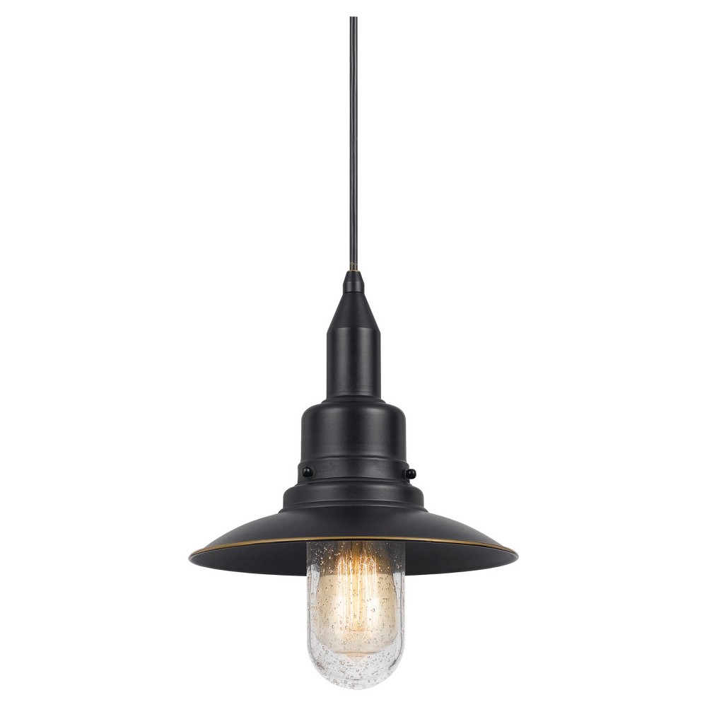 Cal Lighting Patterson Dark Bronze finish Metal Pendant Cal Lighting Paterson metal pendant in Dark Bronze finish with matching canopy. Cal Lighting makes this item in 3 finishes. (Sold separately) Gender: unisex.