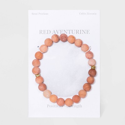 Semi-Precious Beaded Stretch Bracelet