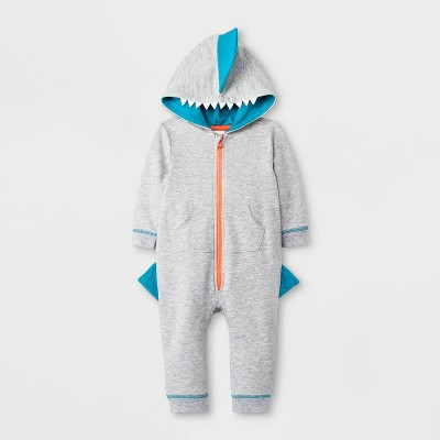 Baby Boys' Shark Romper - Cat & Jack™ Gray 0-3M