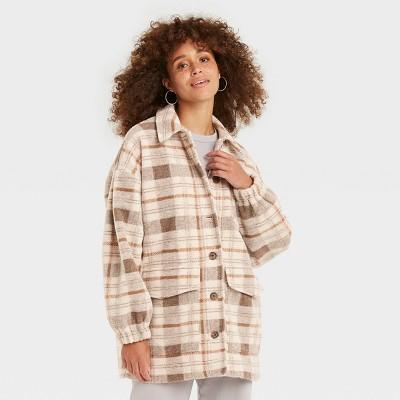 Women's Plaid Shirt Shacket - Universal Thread™
