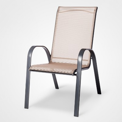 View Photos & Stack Sling Patio Chair Tan - Threshold™ : Target