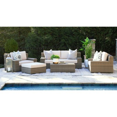 Oakley 5pc Deep Seating Set with Sunbrella - Canopy Home and Garden