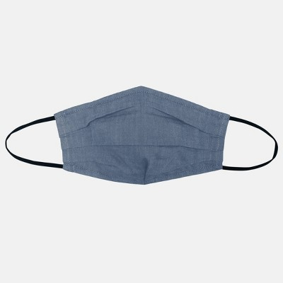 Women's 2pc Fabric Face Masks - Universal Thread™ Navy Solid/Navy Chambray L/XL