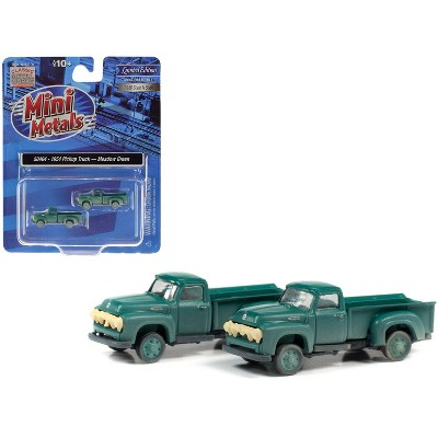 1954 Ford Pickup Trucks Meadow Green (Dirty/Weathered) Set of 2 pieces 1/160 (N) Scale Model Cars by Classic Metal Works