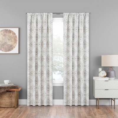 Reston Curtain Panel Natural 84  - Eclipse