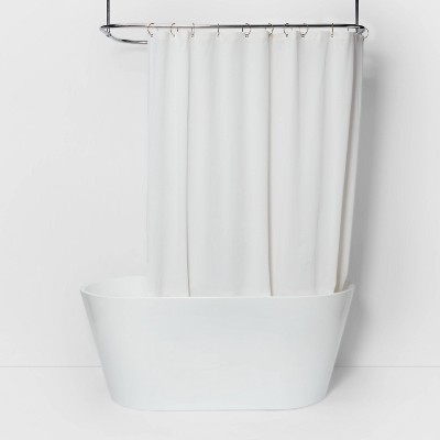 Waterproof Basket Weave Fabric Shower Liner White - Made By Design™