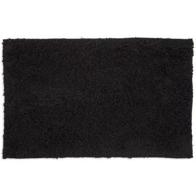 Juvale Black Bath Mat, Non-Slip Bathroom Rug for Showers (32 x 20 Inches)