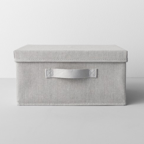 """Short Fabric Bin With Lid 13"""" Wx13"""" Dx6"""" H Light Gray - Made By Design™ - image 1 of 4"""
