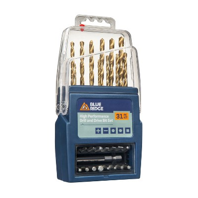 Blue Ridge Tools 31pc High Performance Drill and Drive Bit Set