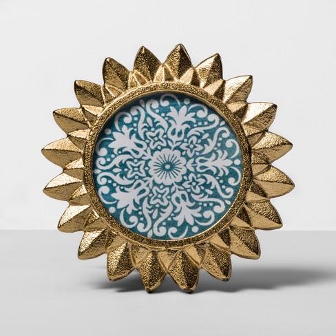"4"" x 4"" Cast Sunburst Frame Gold - Opalhouse™ - image 1 of 4"