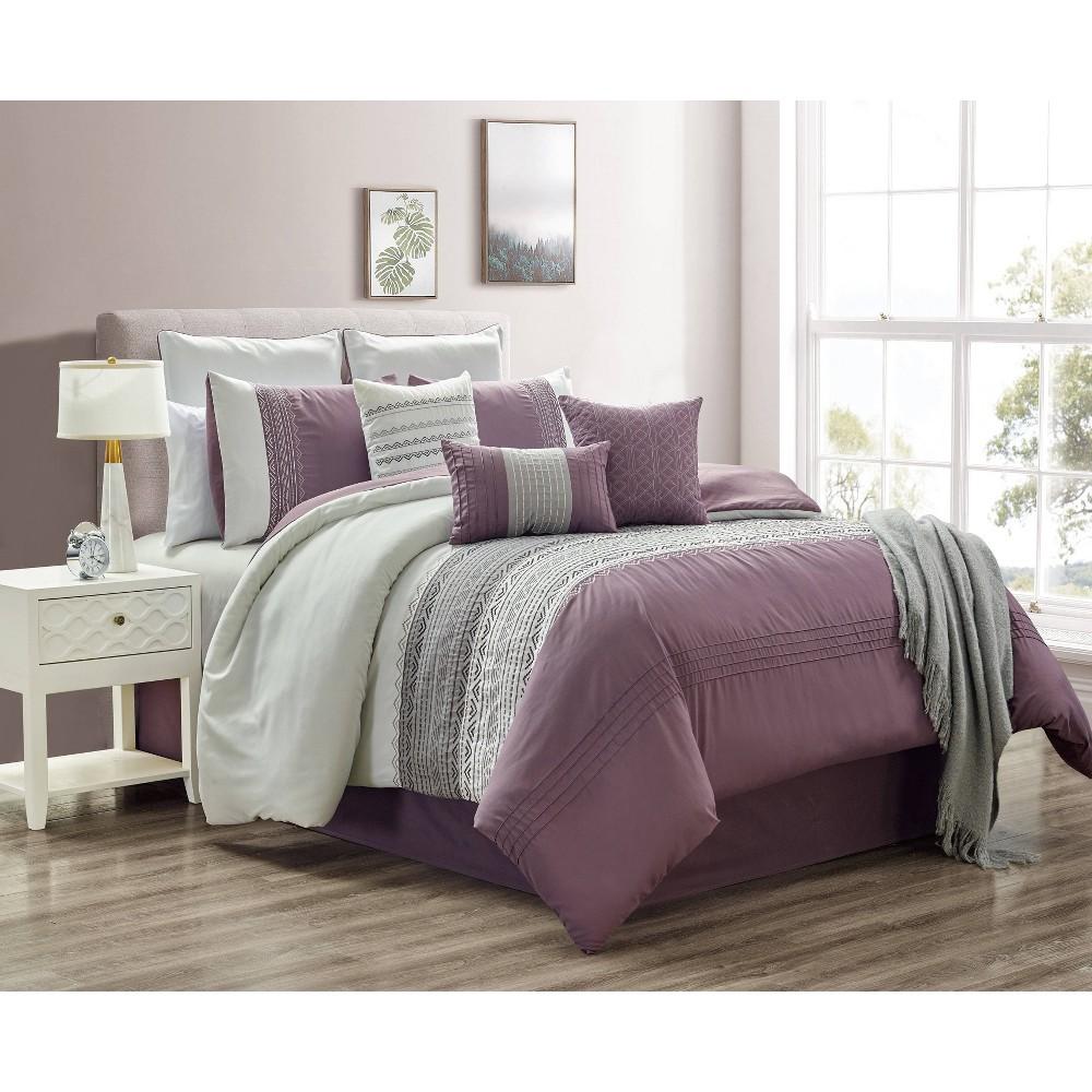 Riverbrook Home King 10pc Hanna Comforter & Sham Set Plum (Purple)