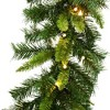 """9ft x 12"""" Vickerman Imperial Pine Garland with 200 Tips and 50 Warm White LED Lights - image 2 of 2"""