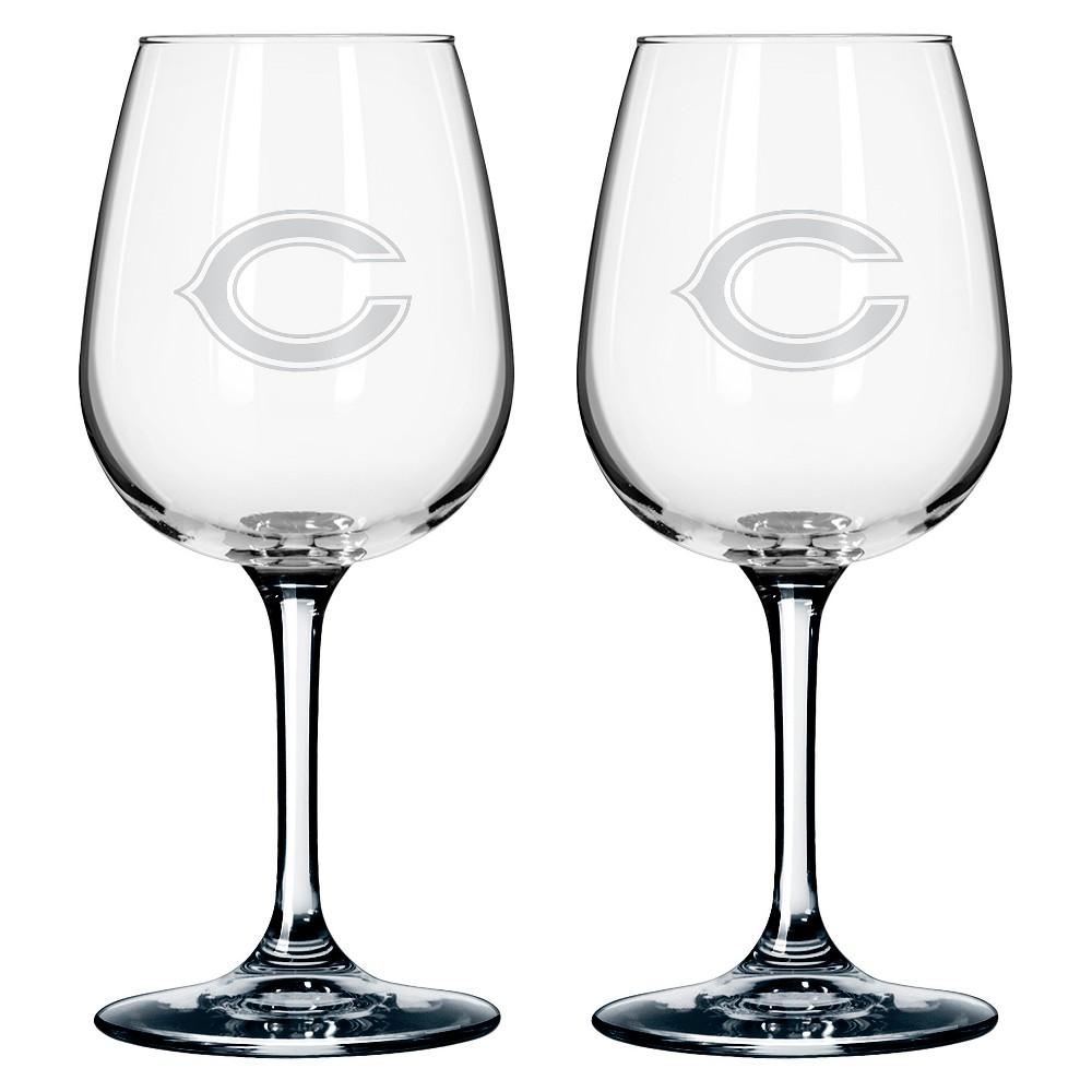 Boelter Brands Chicago Bears 2 Pack Wine Glass 12 oz