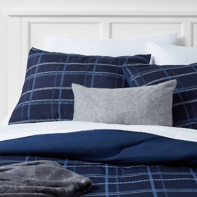 Plaid Grid Decorative Bed Set with Throw - Room Essentials™