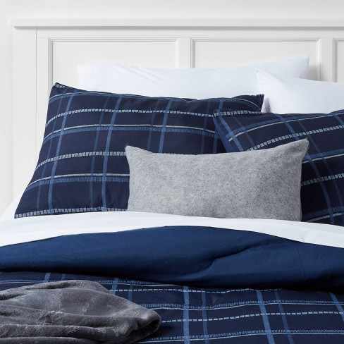 Grid Print Reversible Decorative Comforter Set with Throw - Room Essentials™ - image 1 of 4