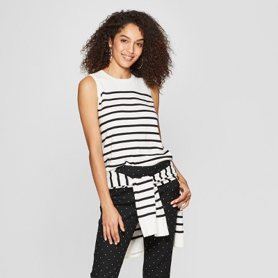 265a3ebff4d9a2 Women s Striped Crewneck Sweater Tank - A New Day™
