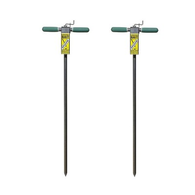 Yard Butler Gopher and Mole Control Steel Poison Bait Applicator Spike (2 Pack)
