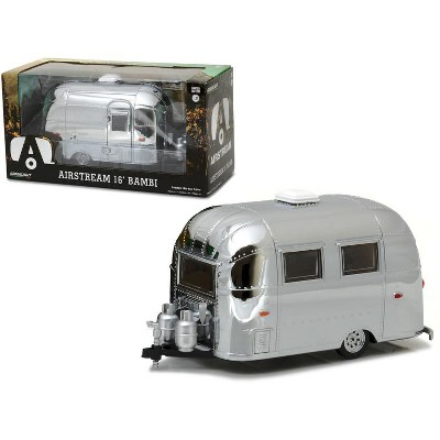 Airstream Bambi 16' Camper Trailer Chrome for 1/24 Scale Model Cars and  Trucks 1/24 Diecast Model by Greenlight