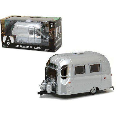 Airstream Travel Trailer >> Airstream Bambi 16 Camper Trailer Chrome For 1 24 Scale Model Cars
