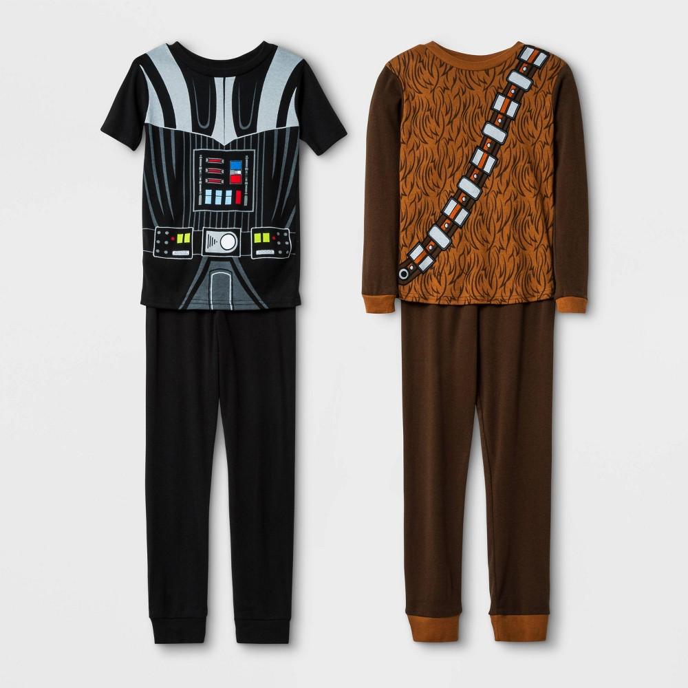 Image of Boys' 4pc Star Wars Pajama Set - Black/Brown 10, Boy's