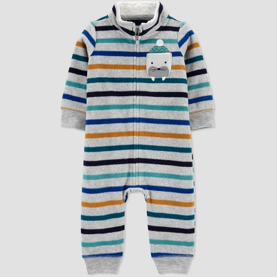 Baby Boys' Walrus Striped Rompers - Just One You® made by carter's Newborn