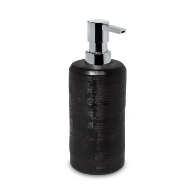 Ceramic Textured Soap/Lotion Dispenser Black - Project 62™