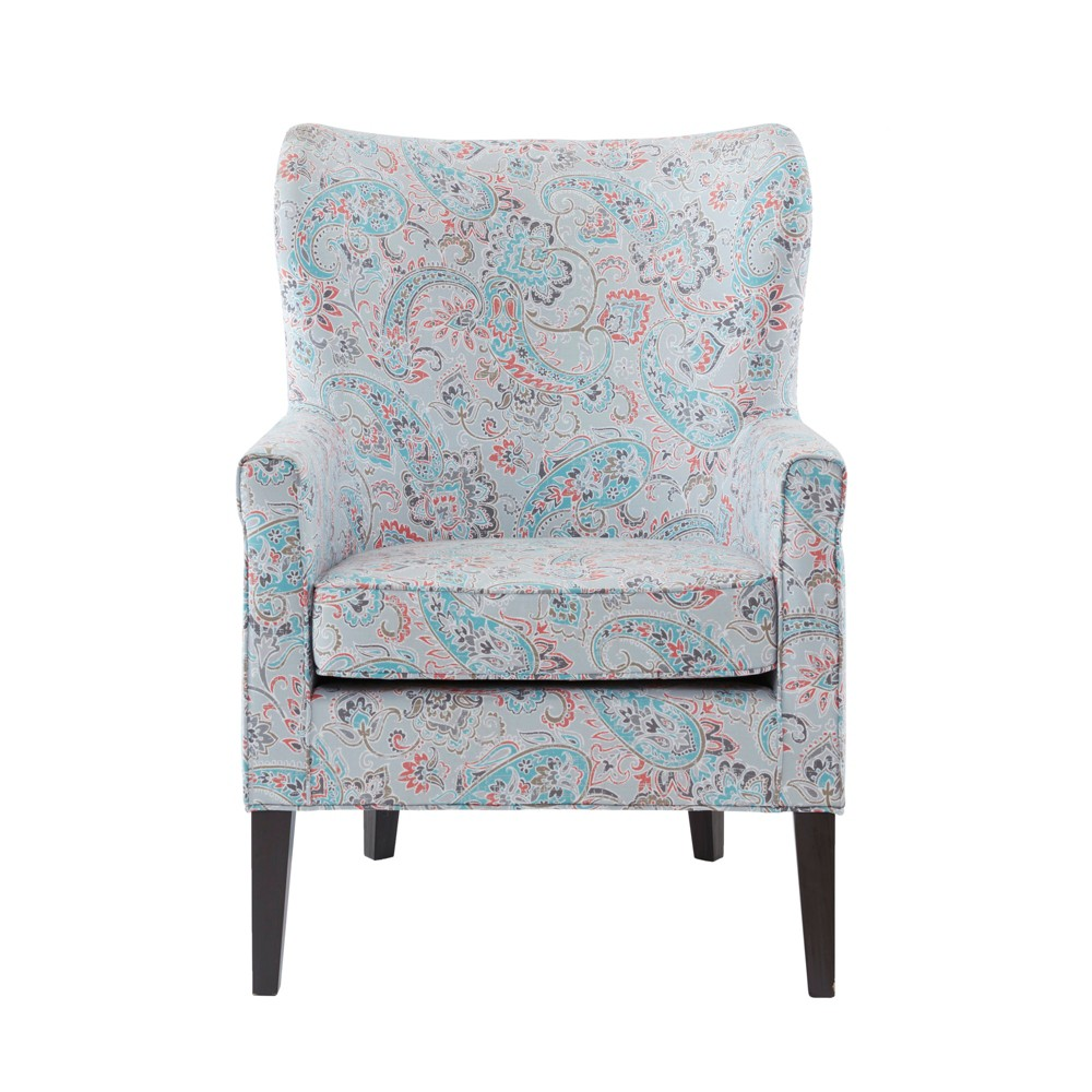 Donner Accent Wingback Chair Teal, Teal Multi