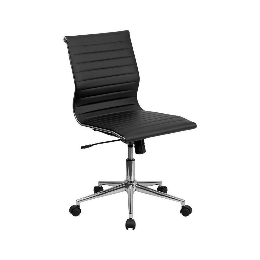Mid Back Executive Chair Black - Riverstone Furniture Collection