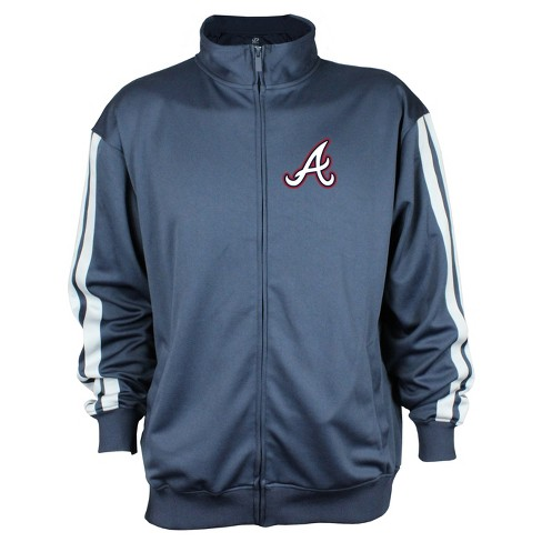 Atlanta Braves Men's Zip-Up Track Jacket - L - image 1 of 2
