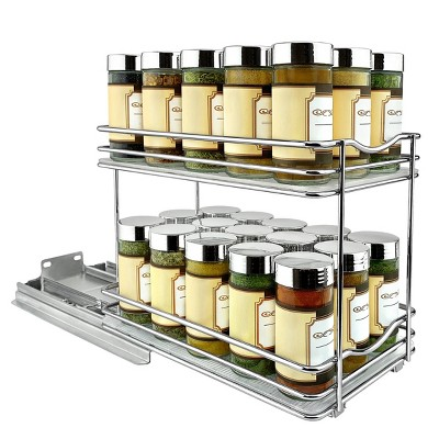 "Lynk Professional Slide Out Double Spice Rack Upper Cabinet Organizer 6"" Wide"