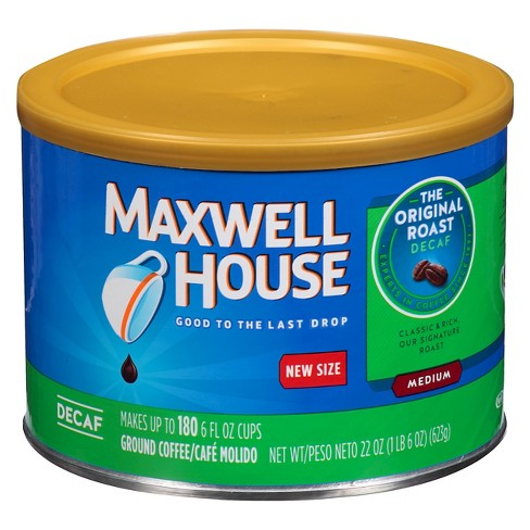 Maxwell House Original Medium Roast Ground Coffee - Decaf - 22oz - image 1 of 3