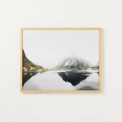 """30"""" x 24"""" Mirror Lake Framed under Glass - Threshold™ designed with Studio McGee"""