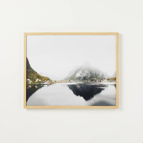 """30"""" x 24"""" Mirror Lake Framed under Glass - Threshold™ designed with Studio McGee - image 1 of 4"""