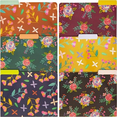 12-Pack Vintage Floral File Folders, Letter Size, 6 Designs - image 1 of 4