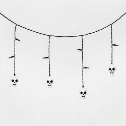 25ct LED Incandescent Skull Halloween Icicle Lights - Hyde & EEK! Boutique™
